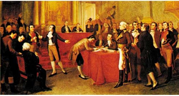 Image result for la pintura en el siglo 19 en venezuela firma del acta de la independencia